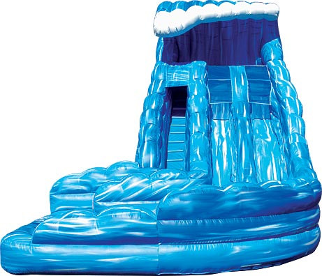 18u0027 paradise plunge dual lane water slide 28u0027l x 12u0027w x 18u0027h - Blow Up Water Slides